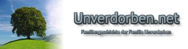 Familiengeschichte und Stammbaum der Familie Unverdorben
